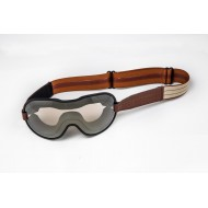 Brown and Beige Cafe Racer Goggles - Ethen