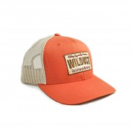 Casquette orange - Wildust Sisters - vue de face