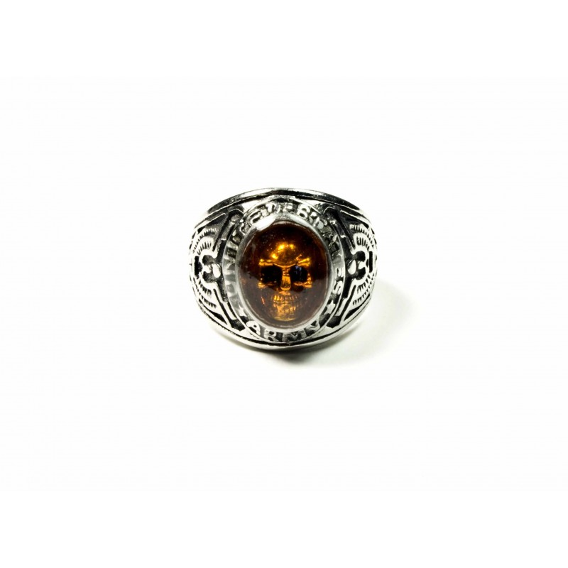 Bague Ghost Ambre - Black Pearl Creations