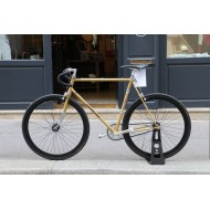 Gold Peugeot vintage bicycle - Super Velo