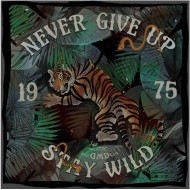 Tiger Silk and Cotton Scarf - DMD
