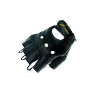 Short bicycle leather gloves - Garibaldi