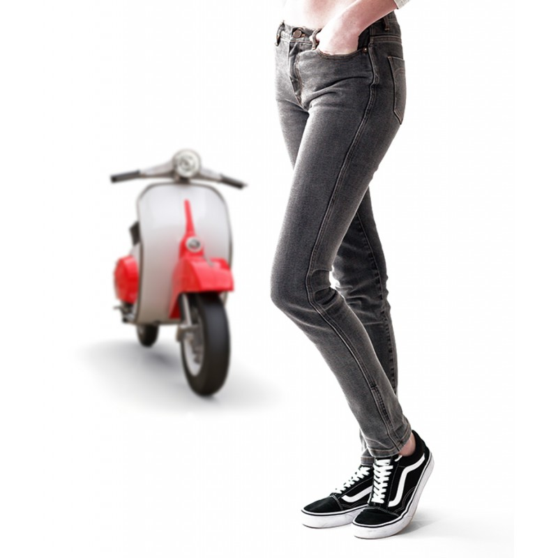 Women Motorcycle jeans Jenyster light bleach - Bolidster