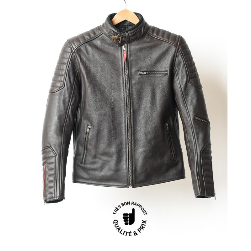 Arsouille motorcycle leather jacket - Garage Français