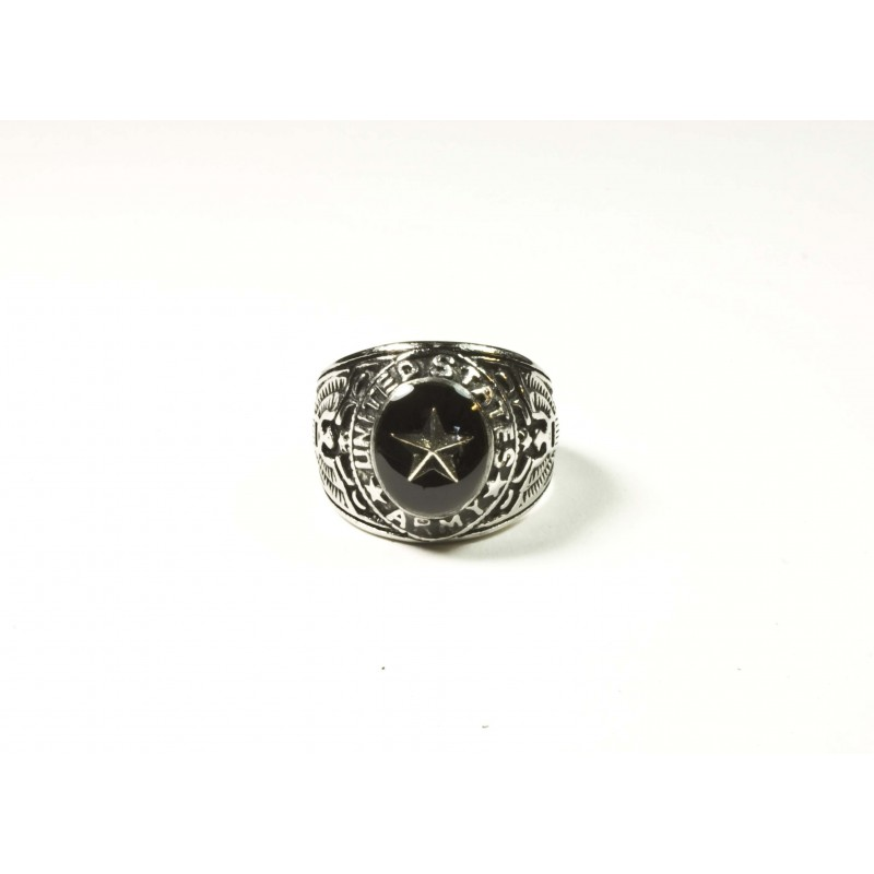 """Bague US ARMY """"Silver Star"""" - Black Pearl Créations"""