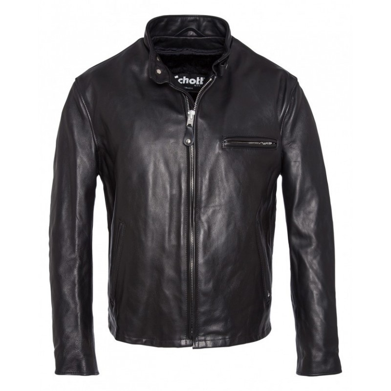 Café Racer Leather Jacket (141) - Schott NYC - Vestes & Blousons