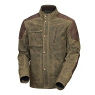 Truman Leather and waxed cotton jacket - Roland Sands Design