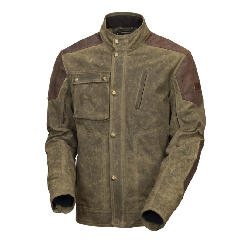 Truman Leather and waxed cotton jacket - Roland Sands Design - Vestes & Blousons